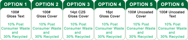Go Green Paper Options